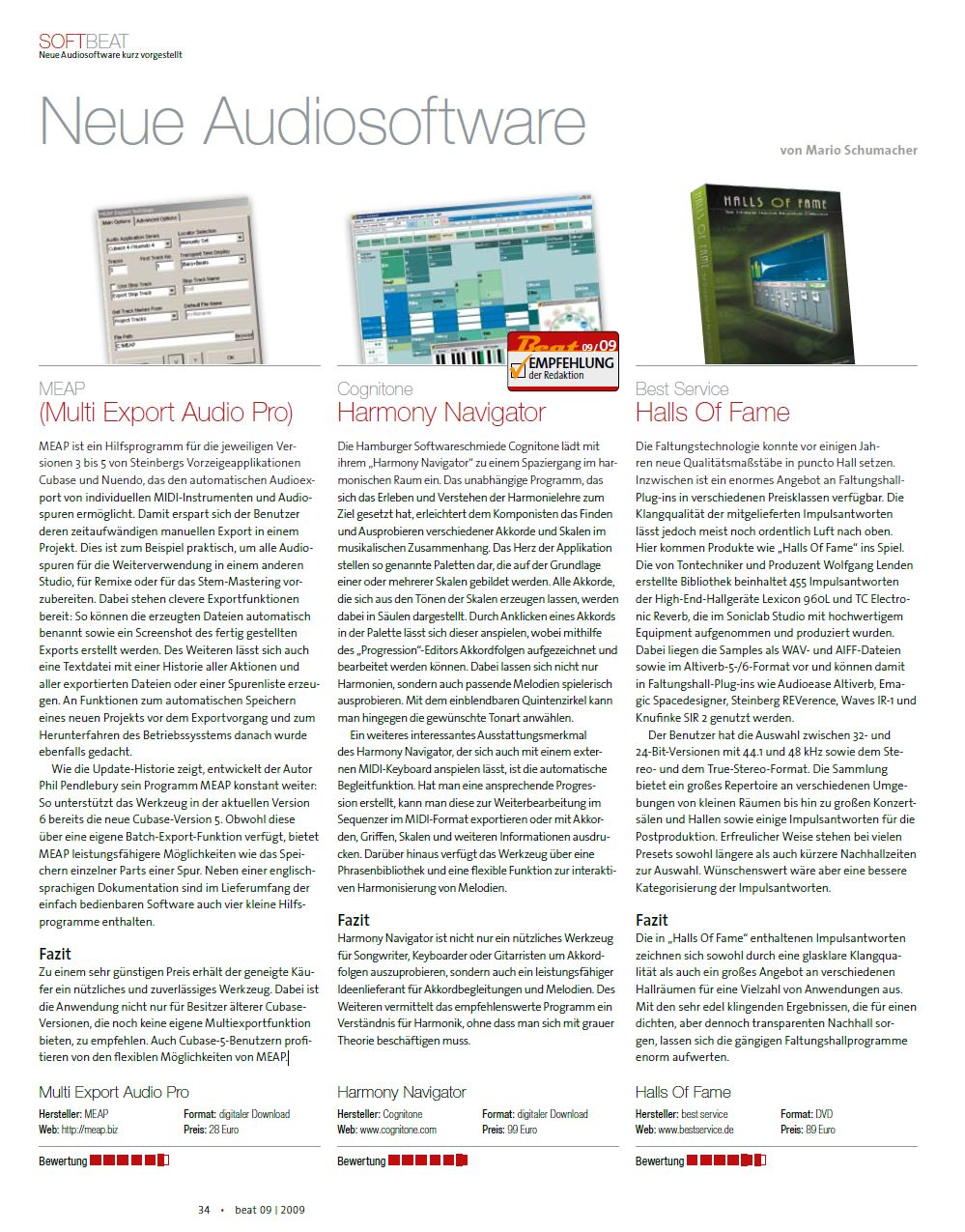 MEAP Reviewed in SOFTBEAT Magazine