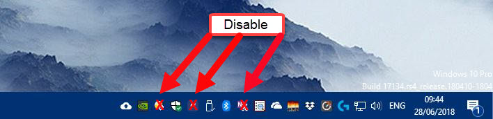 Disable Conflicting Apps